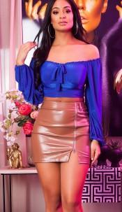 Sexy KouCla Crop Top Latina Llook Blue