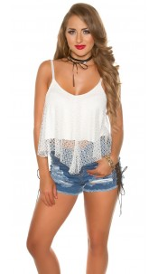Sexy double-layered carrier Crop Top White