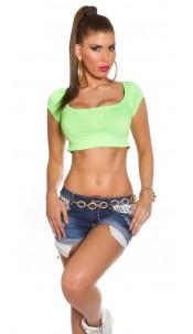 Sexy KouCla Crop Shirt Neongreen