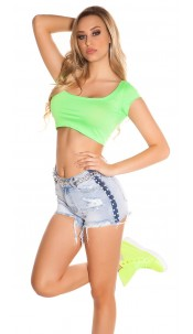 Sexy KouCla Crop Shirt Neongreen