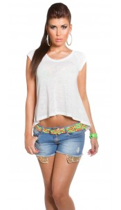 Trendy KouCla High Low Shirt White