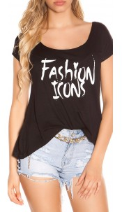 "Sexy KouCla XL Shirt ""Fashion Icons"" Black"