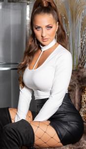 Sexy KouCla Basic longsleeve Shirt White