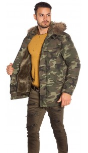 Trendy Men s Cargo Jacket Camouflage Army