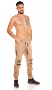 Trendy Men s Jeans Joggers Used Look Camel