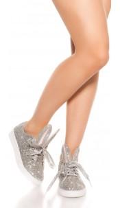 Trendy Glitter Sneakers Silver