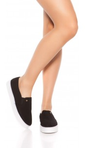 Trendy Slip-On Sneaker Black