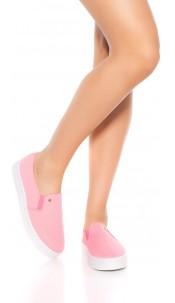 Trendy Slip-On Sneaker Neonfuchsia