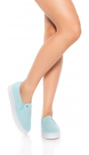 Trendy Slip-On Sneaker Turquoise