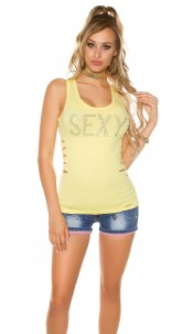 "Sexy KouCla tanktop ""Sexy"" with bow Yellow"