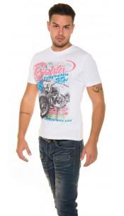 """Trendy T-Shirt """"Roadster"""" White"""