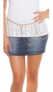 Trendy chain belt Gold