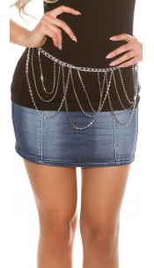 Trendy chain belt Silver