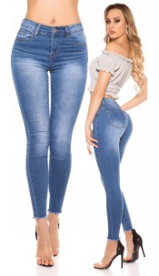 Sexy Skinny High Waist Jeans Jeansblue