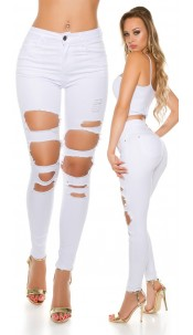 Sexy Skinny Jeans ExTREmE Used Look White