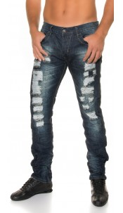 Trendy men s jeans with rips Jeansblue