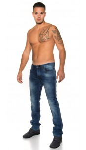 Trendy men s jeans im used look Jeansblue