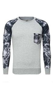 Shirt met lange mouwen grijs