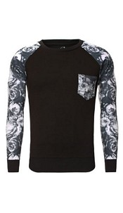Shirt met lange mouwen zwart
