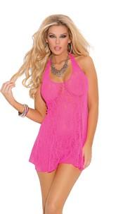 Halter Dress Neon-Pink