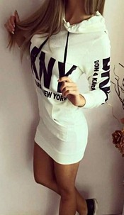 Dress with Hood White