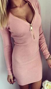 Minidress with Zipper Pink