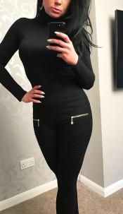 Ellie Zip Detail Trousers Black