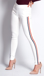 Keira Striped Side Panel Jeggings Pink