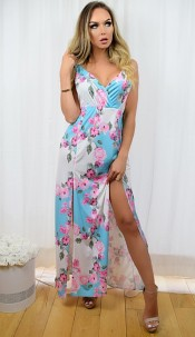 Sasha Floral Maxi Dress Sky blue