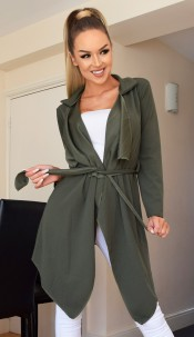 Annabelle Waterfall Jacket Khaki