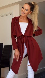 Annabelle Waterfall Jacket Wine