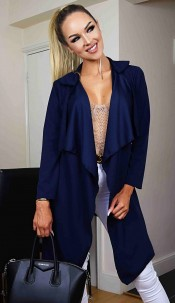 Annabelle Waterfall Jacket Navy