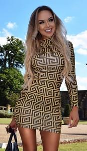 Faria High Neck Dress Mustard