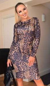 Erin Bodycon Midi Dress Brown
