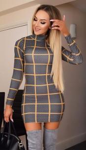 Molly High Neck Dress Grey