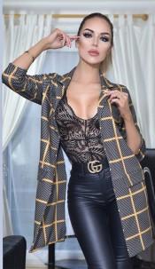 Valerie Longline Jacket Grey