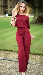 Judith Batwing Jumpsuit Wine