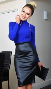 Meghan Markle Celebrity Inspired Dress Royal blue