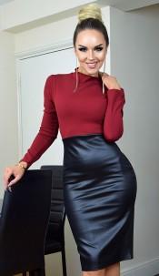 Meghan Markle Celebrity Inspired Dress Wine