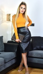 Meghan Markle Celebrity Inspired Dress Mustard