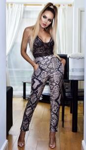 Brina Pocket Detail Trousers Beige