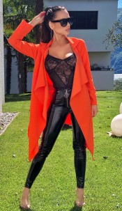 Annabelle Waterfall Jacket Orange