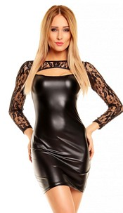 Wetlook Minidress Black
