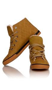 Gevoerde Sneakers Camel