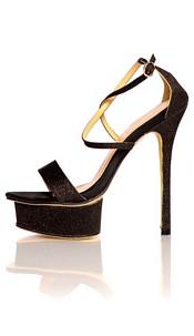 Glitter Sandals Black
