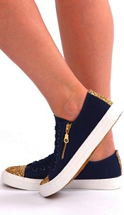 Shoes Blauw / Goud