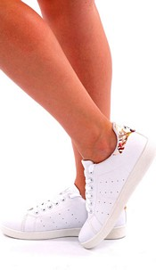 Sneakers Wit / Bloemen