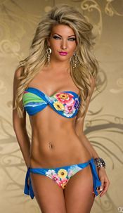Bikini Mixed blauw