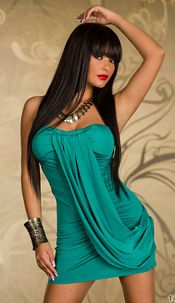 Jurk Turquoise groen