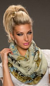 Scarf Mixed olive